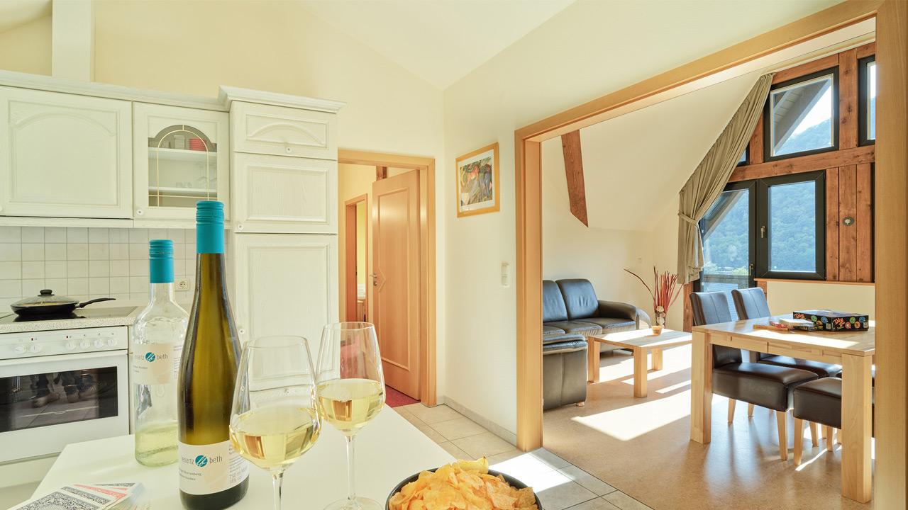 FeWo Moselblick - Küche/Wohnzimer