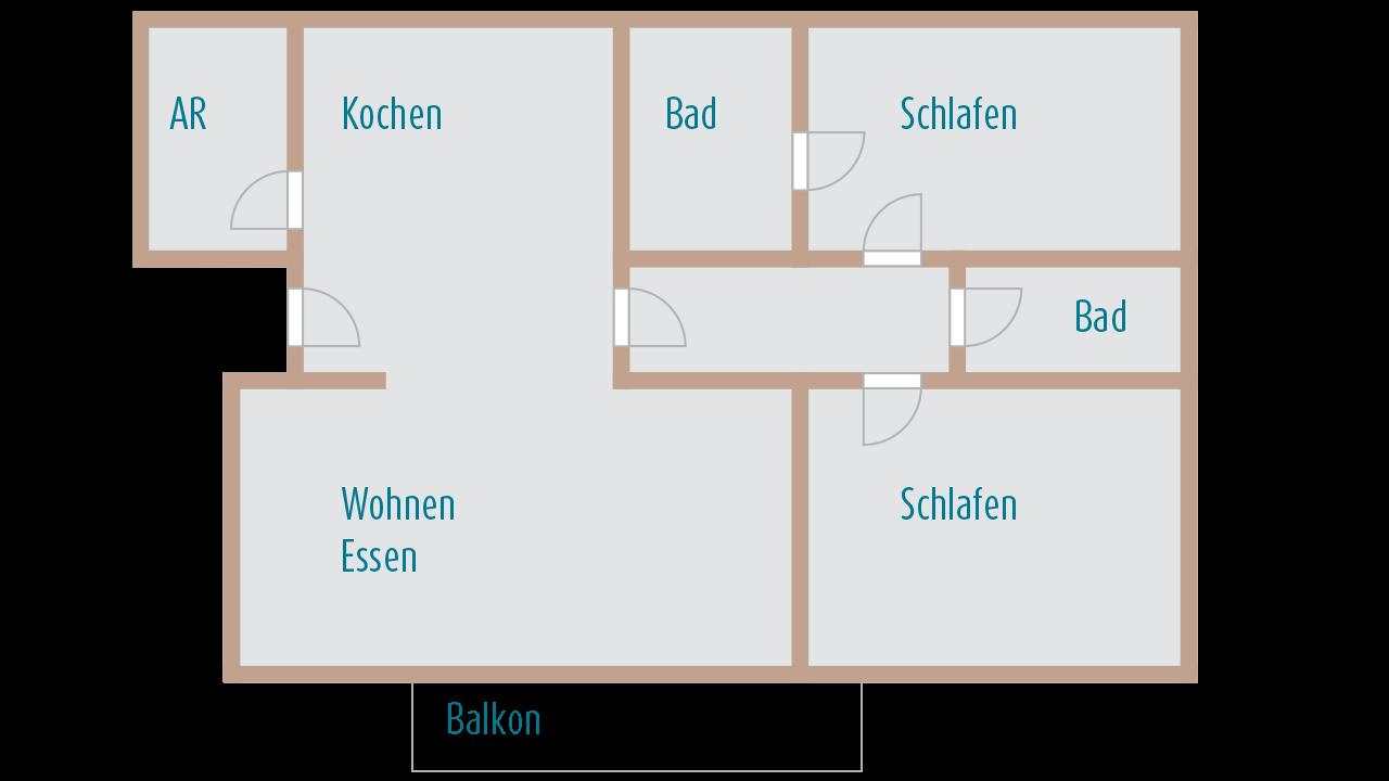 FeWo Moselblick - Grundriss