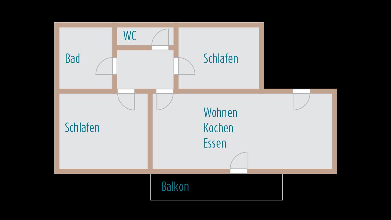FeWo Rosenhang - Grundriss